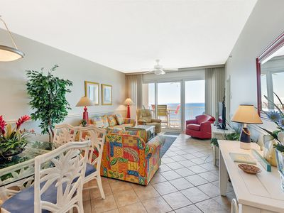 Photo for Comfortable gulf-front condo w/ bicycles included & lazy river onsite