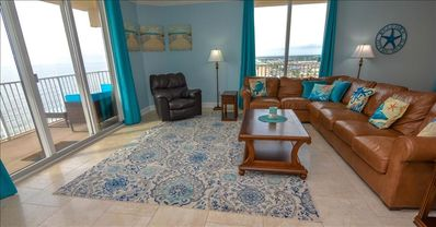 Huge condo with amazing beach front corner views. Remodeled October 2018!