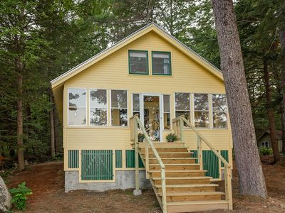Timeless Lakefront Cottage with private dock- East Pond Belgrade Lakes Region