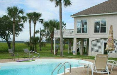 Photo for Water/Marsh Front Home with Private Saltwater Pool