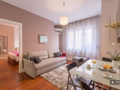 Photo for Friendly Rentals The Gran Via Exclusive II apartment in Madrid