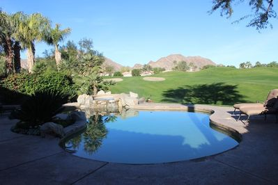 Our Backyard Pool with  views of the Santa Rosa Mountains
