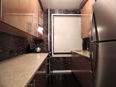Brand new kitchen with quartz countertops and all appliances ready to cook