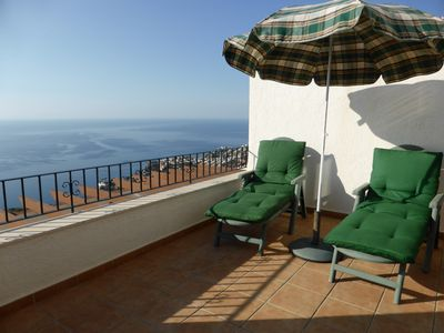Photo for STUNNING - Large Sunny Terrace Giving 180 Degree Panoramic Sea and Coastal Views