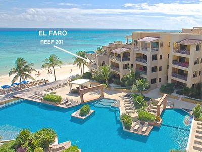 Photo for End cap* 2 king beds*True Beachfront-El Faro Reef 201-  Susan Mattingly