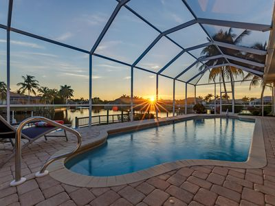 Photo for Gulf Access, Southern Exposure Heated Pool, Kayaks - Villa Salty Shoreline Home - Cape Coral