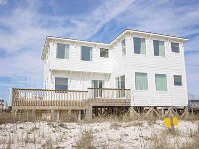 Photo for No Shoes Beach House ~ Gulf Front ~  Heated Pool ~ 6 bedrooms