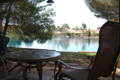 Good morning!  How about a cup of coffee outside by the lake?