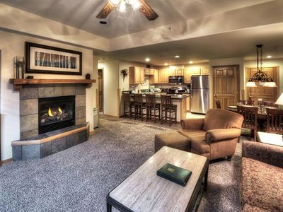 Photo for 1BD Grand Timber Ski-in/Ski-Out Snowflake Lift.  Garage. Shuttle. Spa Tub.
