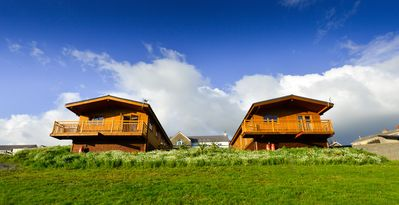 Photo for 2 Log cabins with stunning views, ideal location near Cardiff, South Wales