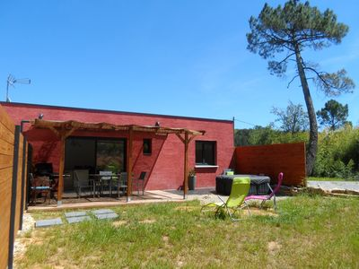 Photo for COTTAGE IN THE NATURE WITH PRIVATE JACUZZI 5 MIN FROM THE ARDECHE RIVER