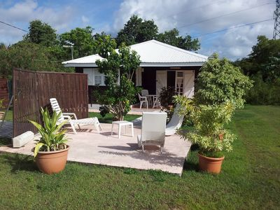 Photo for SPACIOUS BUNGALOW IN CREOLE TYPE F2 800M QUIET TOWN OF SAINTE ANNE 97180