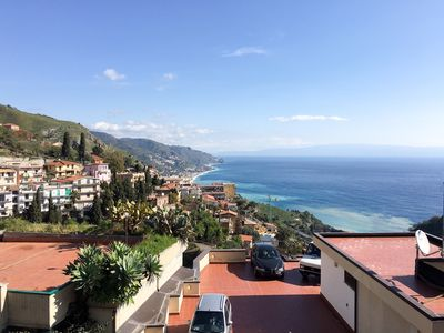 Photo for Apartment in the old town of Taormina with sea view