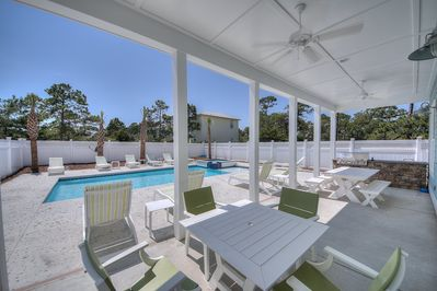Seagrove Beach - Open Pool area and outdoor living