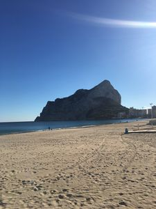 Photo for Calpe Fosa Beach in 1 line with pool and garden 2 bedrooms