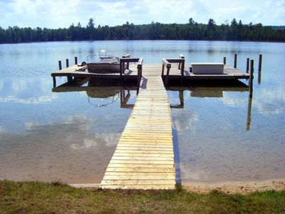 View of Walled Lake from the yard. No other cabins are located on the lake.