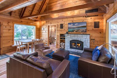 Living Room - Welcome to Tahoma! This cabin is professionally managed by TurnKey Vacation Rentals.