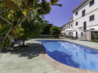 Photo for Complex of 3 apartments and 2 rural houses with swimming pool, large terrace and