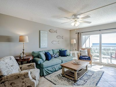 Photo for Gulf Front Two Bedroom Condo is Just Beachy!! Steps to the Beach. Minutes from E