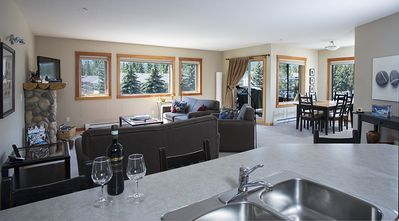Open floor plan creates lots of space.  1288 square feet...all on one floor.