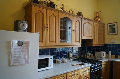 The fully fitted kitchen - complete with all cooking essentials.