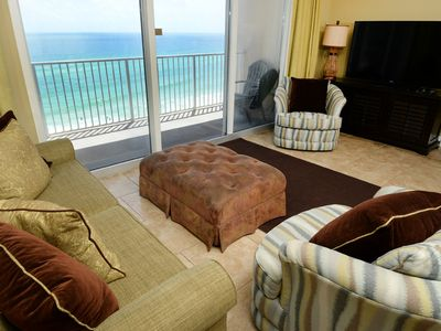 Photo for Inviting gulf-front condo w/ pools, hot tubs & beach service - near Pier Park!