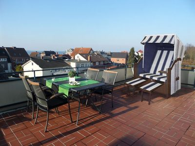 Photo for Nice little apartment Kassiopeia 1 with a large roof terrace and Baltic Sea views