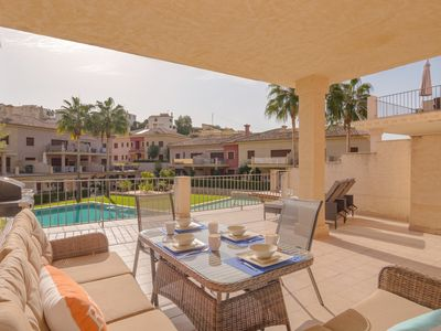 Photo for Stunning 2 bed apartment in the popular Jardine De Montemar complex in Benissa