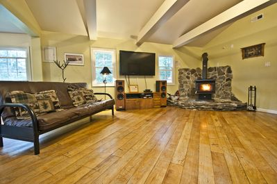 Great Room, Home Theater, and Wood Stove!