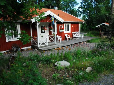 Photo for Lovely cottage in Småland lake Kiasjön incl. Energy costs
