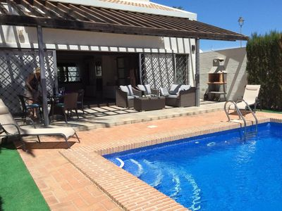 Photo for Villa with private pool , 2 bedrooms, 2 showers rooms sleeps 4 frontline golf