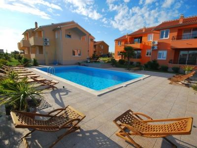 Photo for 2 bedroom apartment, pool, BBQ, close to the sea in Vodice Croatia