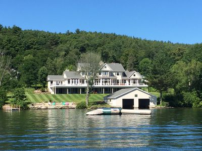 Photo for The Premier Winnipesaukee Waterfront Estate - Sleeps 20 - 10,000 square feet