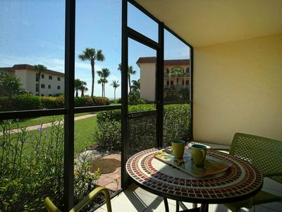 Photo for WALK RIGHT OUT TO THE POOL and only a few more steps to the beach from this cozy first floor unit!