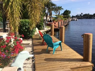 Photo for Waterfront home on a wide canal in Pompano Beach