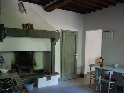 Photo for Luxury apartment with private garden on the walls of Chianti XII Century Castle
