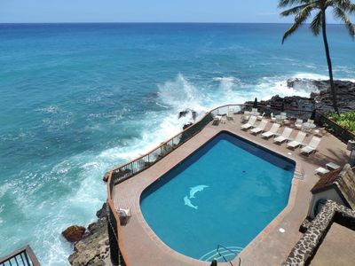 Photo for Poipu Shores 302B 3Br/2Ba Oceanfront, Full Air Conditioning, Heated Pool, Sunset