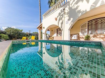Photo for Villa Pastora; Private Pool, Walk to Beach, WiFi, Car Not Required