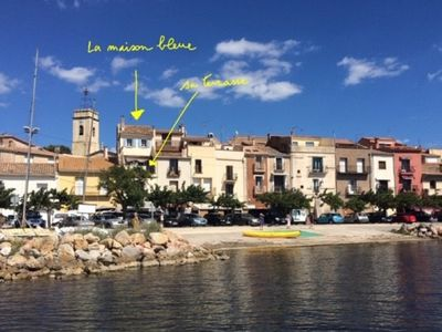Photo for The Blue House, exceptional view of the Thau basin, the Sète peninsula