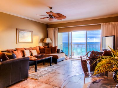 Photo for Coral Reef. Luxury. Beachfront. 2 Pools. Wifi. Beach Chairs included. 1500 sq ft