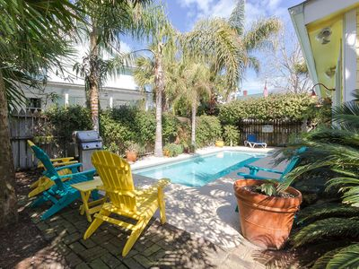 Photo for Historic Cottage Charm, Large Private Pool, Garden; Pet Friendly and Just two Blocks From the Beach!