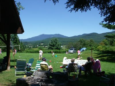 View North of Mt Mansfield from fire pit.