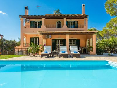 Photo for Villa Durrell: Large Private Pool, Walk to Beach, A/C, WiFi