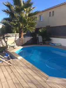 Photo for VILLA 120 M2 WITH SWIMMING POOL ON A CLOSED GARDEN 150M FROM THE BEACH