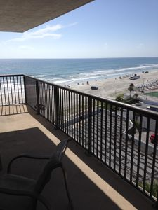 Photo for Beach and Southern View of Atlantic Ocean from 6th Floor Balcony, Unit 6G.