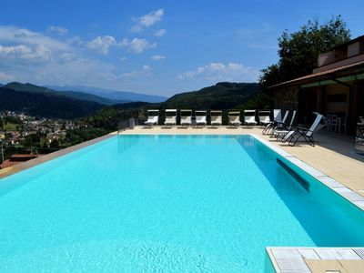 Photo for Luxury property, private heated pool, stunning views, WIFI walk restaurant