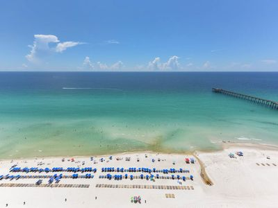 Photo for Beachy 23rd floor Gulf front condo w/ wet bar, shared pools - walk to the beach!