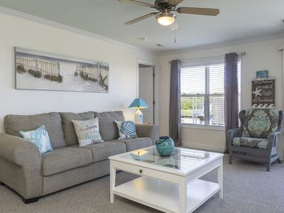Photo for Sea View: 3 BR / 2.5 BA condo in Oak Island, Sleeps 12