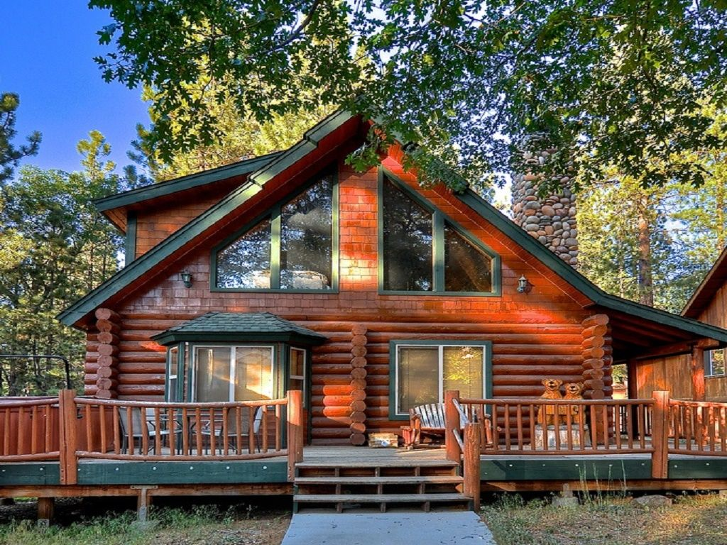 Five star snow summit full log cabin spa vrbo for Snow summit cabin
