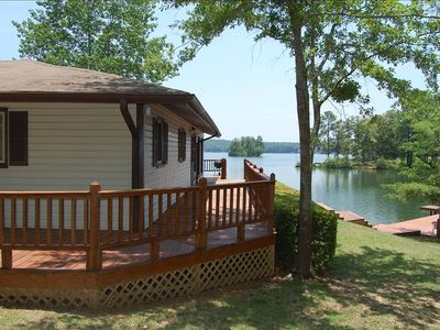 Photo for Cabin on Wisteria Lane,lake front,private dock
